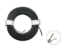 10m Ring Zwillingslitze 2x 0,08mm² schwarz / schwarz Litze zweiadrig Doppellitze
