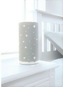 New Grey Stars Fancy Printed Children's Room Bedside Table Lamp