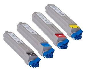 4 x Toner für OKI C9600 C9650 C9650n C9800 MFP - Rainbow Kit 42918916 - 42918913