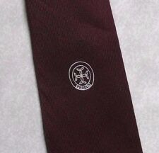 PROBUS TIE VINTAGE RETRO CLUB ASSOCIATION 1970s 1980s BURGUNDY BY MACASETA