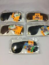 5 pairs SUN GLASSES CLIP ON FLIP UP DRIVE VISION Sun BLOCKER LENS UNISEX Lot 5pc