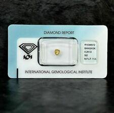 Diamant - 0.28 ct - Poire - Natural Fancy Light Yellow-Orange - Si2 - 850€! IGI