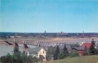 Moncton New Brunswick~Skyline from Albert County~Petitchodiac River Bridge~1963