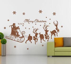 Christmas Special- Santa on Sleigh Art Vinyl Wall Sticker/ Decal- HIGH QUALITY