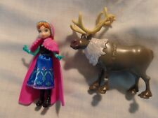 Lot of 2 Disney Frozen Anna Sven Figures Cake Topper