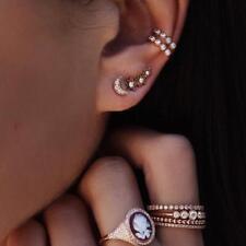 Delicate Star Moon Ear Cuff Earrings Jewelry Wrap Fashion Ear Clip for Women T
