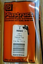 "PLASTRUCT STRUCTURAL SHAPES #90565 - 3/16"" STYRENE TEE 5 Pcs. - TFS-6"