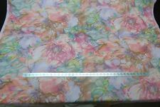 Fabricut Surfside-F Guava cotton contemporary Floral every color in the rainbow!