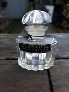 VINTAGE FRENCH QUADRILLE BALENCIAGA GLASS PERFUME BOTTLE