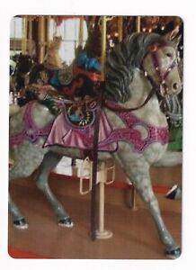 Beautiful Appaloosa Carousel Horse  -- Linen Modern Wide Swap Playing Card