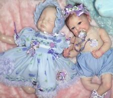 CRAFTYMALS GORGEOUS 8  PIECE DRESS SET FOR REBORN DOLLS  19  - 22 INCHES