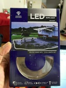 AURORA GOLDEN LED ROPE LIGHT 16 FEET INDOOR/OUTDOOR CONNECT UP TO 4 SETS