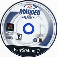 Madden NFL 2001 (Sony PlayStation 2, 2000) **DISC ONLY**