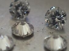Lot de 5 Diamants Naturels Ronds - 2.40mm - VVS/E - SUPERBES !!!
