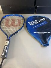 NEW!  Wilson Dimension Racquetball Racquet R0018 w/ Protective Case Size X-SM