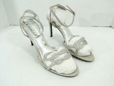 Ralph Lauren Women's Silver Stephanie Evening Pumps Shoes NWOB Size 7.5 B $98 B2