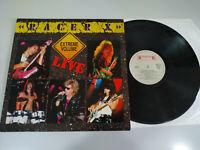"""Racer X Extreme Volume Live LP Vinyl 12 """" VG/VG Holland Ed 1988 Roadrunner"""