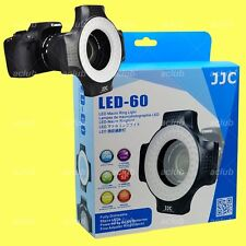 JJC 5600K Dimmable LED Macro Ring Light With 6 Adapter - 4 x AA Battery Operated