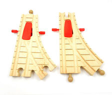 Thomas Tank & Friends Wooden Clickity-Clack Action Switch Track 2pcs LC99254 EUC