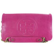 Tory Burch BOMBE Reva Clutch Logo Shoulder Handbag Purse MAGENTA $350