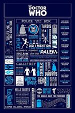 Doctor Who Quotes Poster-Dr Who Infographie POSTER-NEUF Dr Who BBC TV poster
