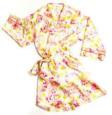 Oscar De La Renta Pink Label Women M Pink Floral Sexy Robe Kimono Sleepwear EUC
