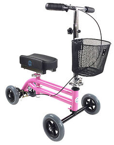 KneeRover Kids Knee Walker Child Knee Scooter Pediatric Crutch PINK Preowned