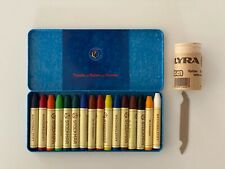 Stockmar. Colored Wax Beeswax Crayons, Used Once. Lyra Crayon Sharpener, New