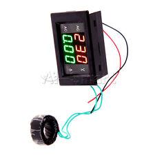 Digital Ammeter Voltmeter LCD Panel Amp Volt Meter Gauge AC 100A 80-300V Black