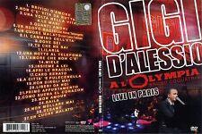 "GIGI D'ALESSIO ""A L'OLIMPYA - LIVE IN PARIS"" RARO DVD SIGILLATO - LARA FABIAN"