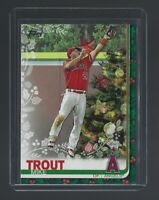 MIKE TROUT  2019 Topps Walmart Holiday  #HW31  CHRISTMAS TREES  Rare   Angels