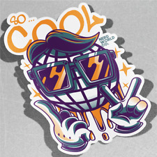 So Cool Globe Street Graffiti Urban Vinyle Sticker Autocollant Fenêtre Voiture Van Vélo 3162