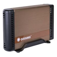 3.5 inch Coolmax HD-381BZ-U3 USB 3.0 Aluminum SATA HDD Enclosure (Bronze)