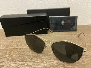 NEW DIOR STELLAIRE 4 Women's Sunglasses, (3YG/IR) Light Gold / Grey Lens