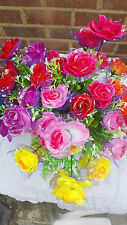 État de 36 mixte couleur rose soie fleur artificielle bouquets wholesale lot 16