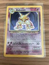 MINT! Alakazam (1/130) Base Set 2 Holo Pokemon Card. Rare! Fast P&P!
