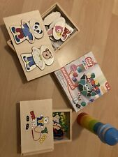 Holzspielzeug HABA Playtive Baby Kleinkind Holz Fädeln Stapeln Legen Balancieren