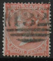 "SG80-4d.Pale Red. Fine Used With Neat Numeral ""132"" Cancel Of Brighton.Ref.07226"