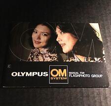Retro Vintage Olympus Om System Slr Camera Flashphoto Group - Manual Brochure