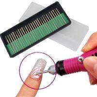 30X Électrique Embouts Bits Ponceuse Lime à Ongle Manucure Pédicure Nail Art Set