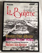 1973 DECCA PUCCINI LA BOHEME Karajan/Berlin Philharmonia 2 Cassette Box Set