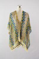 Top fashionland Colorful print color vest,kimono,cover up,beach cover