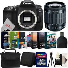 Canon EOS 90D 32.5MP DSLR Camera + 18-55mm Lens Complete Bundle