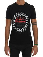 NEW $110 FRANKIE MORELLO T-shirt Black Cotton Maison Short Sleeve Mens Top s. S