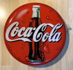 Coca Cola Reklame Lampe Leuchte Schild Alt Original Deko Werbung
