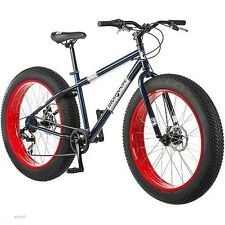 """NEW 26"""" Mongoose Dolomite Men's 7-speed Fat Tire Mountain Bike, Navy Blue/Red"""