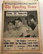 1967 Sporting News MINNESOTA Twins KAAT Dean CHANCE Jim GRANT 20 GAME Winners