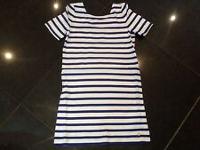 NWT Juicy Couture New & Genuine Girls Age 10 Blue Striped Dress With Juicy Logo