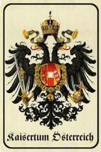 Kaisertum Österreich Wappen Blechschild Schild Metal Tin Sign 20 x 30 cm CC0057