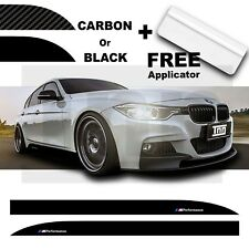 BMW SERIE 3 M Performance Lato Gonna AUTO ADESIVO VINILE F10 F30 F31 F32 F33 F35